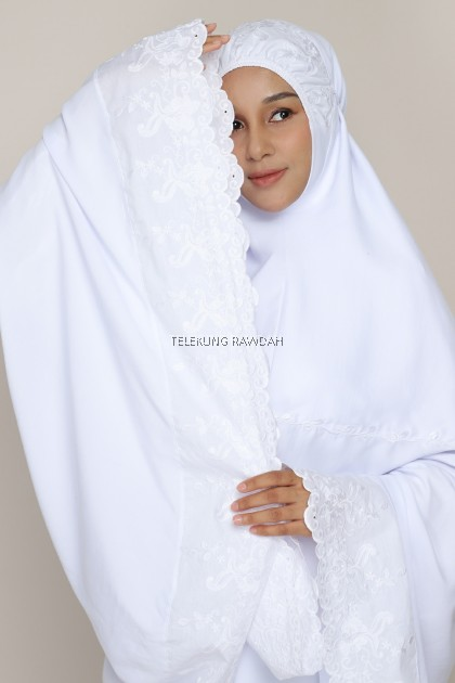 Telekung Rawdah - Nawrah (Abyadh Series)
