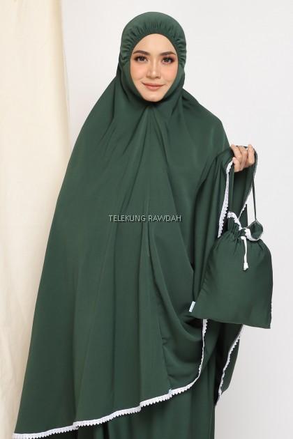 Zahra Telekung Travel - Seaweed