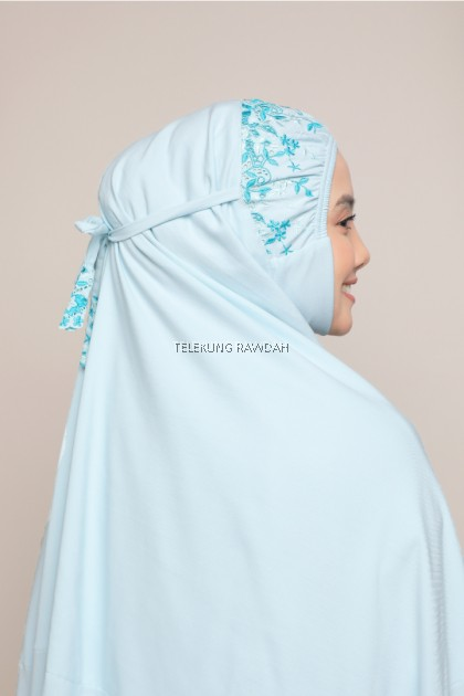Dahlia Series in Aqua Blue